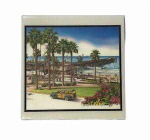 San Clemente Pier, California by Jim Krogle 1994 signed