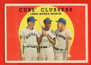 1959-Topps-147-Ernie-Banks-GOOD-BENT-Chicago-Cubs-HOF-FREE-SHIPPING