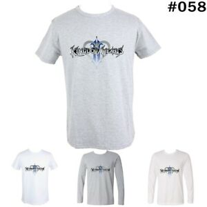 Kingdom-Hearts-Design-Men-039-s-Boy-039-s-Long-Short-Sleeves-T-Shirt-Graphic-Tees-Tops