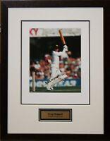 Australian Cricket Great Greg Chappell Signed Photo Framed