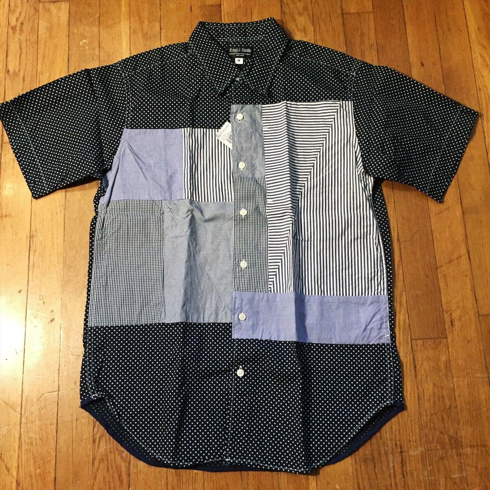 Rough & Tumble von Nepenthes Marineblue Patchwork Hemd Engineered Garments Cdg