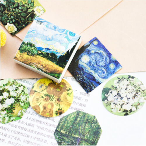 45 pcs Meet Van Gogh Reproduce DIY Diary Decorative Sticker Label Classic
