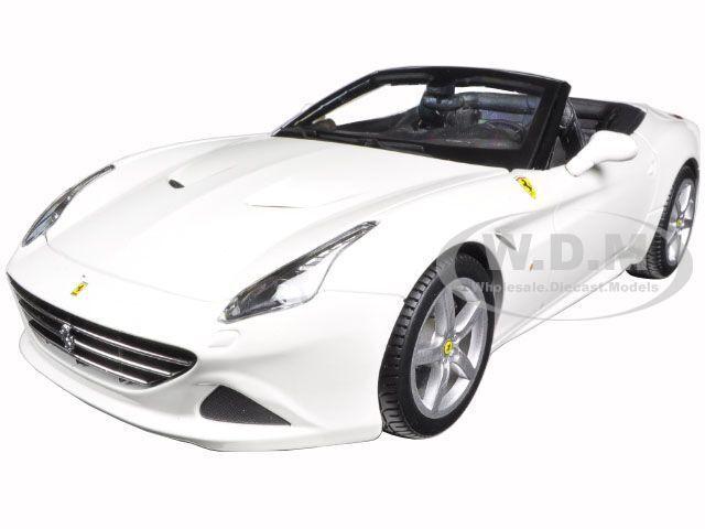 FERRARI CALIFORNIA T (OPEN TOP) WHITE 1 1 1 18 DIECAST MODEL CAR BY BBURAGO 16007 31673c
