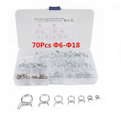 150Pcs Double Wire Fuel Line Hose Tube Spring Clamp Assortment Φ5-Φ14 USA SHIP