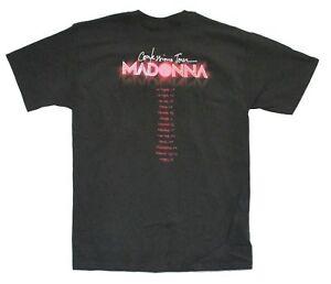 Madonna-Confessions-Tour-Capelli-Rossi-Adulto-Nero-T-Shirt-ufficiale-nuovo