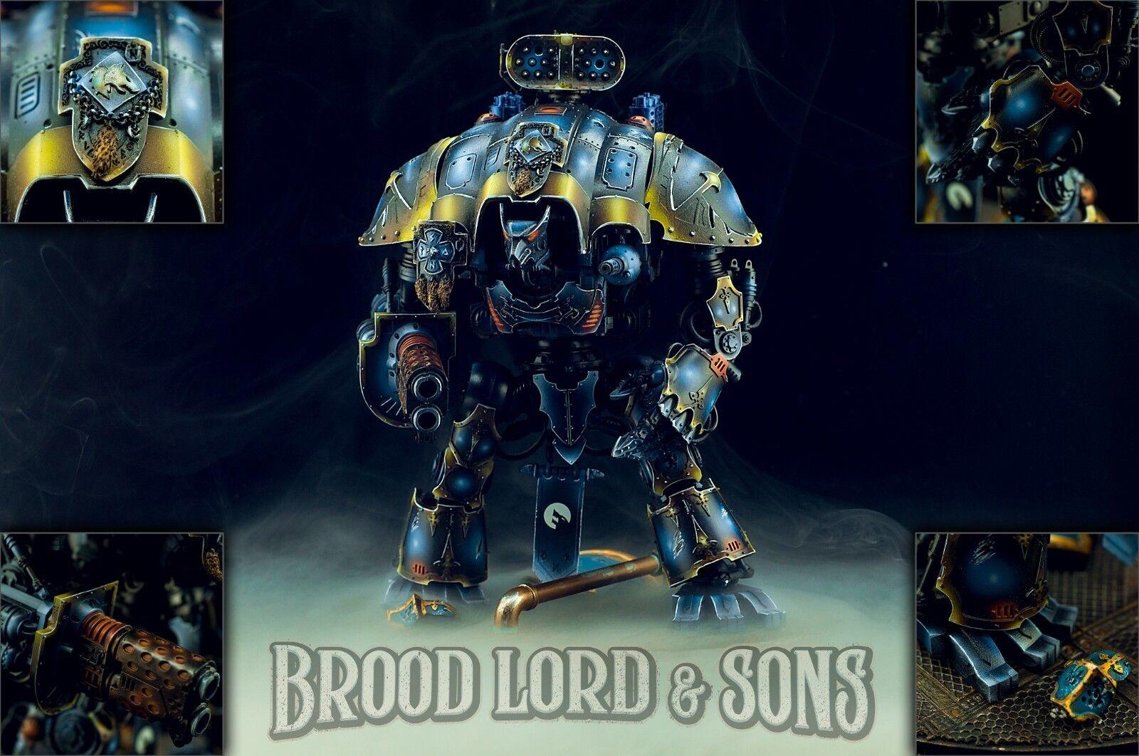 Lobos espaciales warhammer 40k-Caballero Imperial completamente completamente completamente magnetizada pintado de comisión  minoristas en línea
