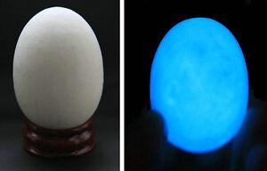 90g-034-Glow-In-The-Dark-034-Quartz-Crystal-Sphere-Egg-Blue-Luminous-Stand