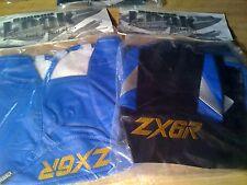 2003 KAWASAKI ZX-6R SEAT COVER SKINS & TANK BRA Blue/Silver/Black w/ LOGO NEW