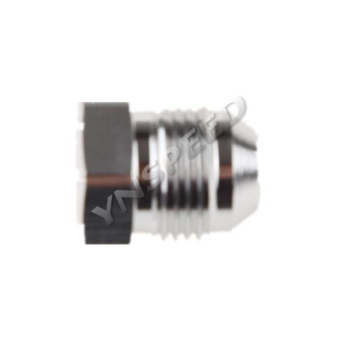8AN AN-8 Male Flare Plug Fitting Aluminum Silver AN Plug