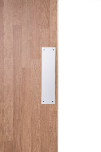 Satin Anodised Aluminium Plate Finger Door Push Plate 300mm x 75mm
