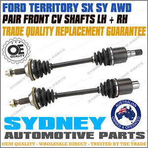 LEFT + RIGHT Front CV Joint Drive Shaft Ford Territory SX SY AWD incl Turbo
