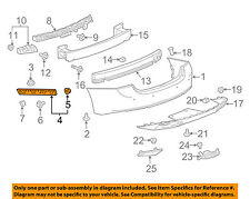 Chevrolet GM OEM Malibu Rear Bumper-Bumper Cover Reinforcement Right 22604760