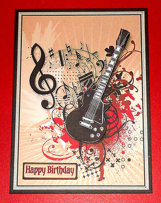 Handmade Greeting Card 3D All Occasion With A Guitar