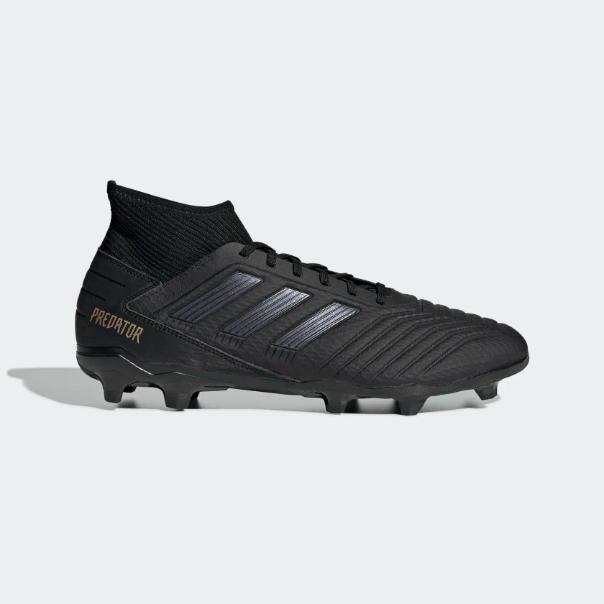 more photos 80a16 63478 Adidas Men's Predator 19.3 Firm Ground FG Soccer Cleats (Black/Gold) F35594*