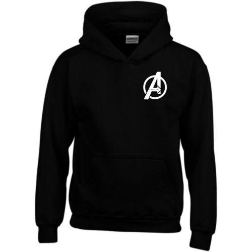 Avengers Endgame Hoodie Small A Logo Iron Man MCU Marvel Gift Men Sweasthirt Top