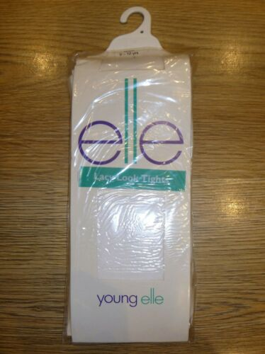 Young Elle White Lacy Look Tights Age 9-10 Years New In Pack