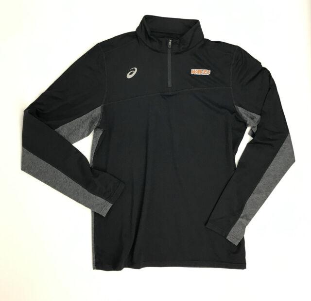 Asics Waves Team Classic Volleyball 1/4 Zip Pullover Men's Medium Black YT3374