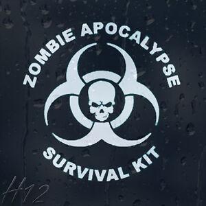 Zombie-Skull-Response-Team-Apocalypse-Survival-Kit-Car-Decal-Vinyl-Sticker