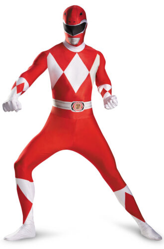 Brand New Mighty Morphin Red Power Ranger Bodysuit Tween//Adult Costume