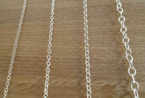 Solid Sterling 925 Silver Strong Trace Cable Chain Necklace Anklet Bracelet