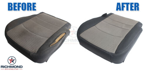 Details about  /2009-2014 GMC Yukon SLT AC-Driver Side Bottom PERFORATED Leather Seat Cover Gray