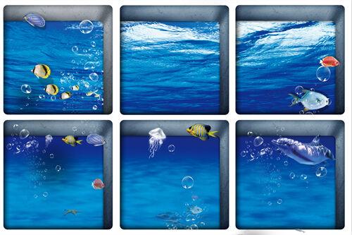 Voir baignoire antidérapantes sécurité Autocollants Salle De Bain Fall Prevention Decal 6PCS
