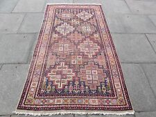 Antique Traditional Hand Made Caucasian Blue wool Oriental Rug 212x117cm