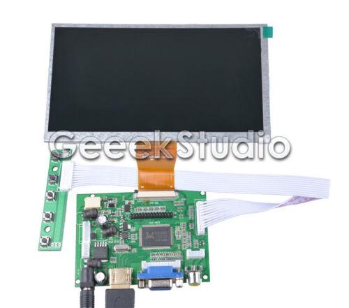 Pi 2 7 inch 800*480 LCD Display Driver Board HDMI VGA 2AV for Raspberry Pi 3