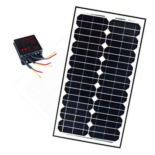 ALEKO Monocrystalline Solar Panel Charging Controller Kit  12V 30-Watt
