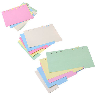 5 A5//A6//A7 Blank Index Multi-Colored Tabs Dividers Insert Text Refill Organiser