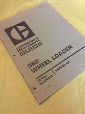 Cat Caterpillar 980 Lubrication Maintenance Guide Wheel Loader Book 89p906 Up