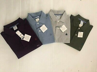 NWT BROOKS BROTHERS 1818 MEN/'S PERFORMANCE POLO SLIM FIT L//S SHIRT GRAY $69.50
