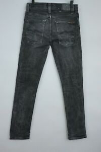 Hombre-Nudie-Jeans-Grim-Tim-Gris-Ajustado-Talla-W31-L32-Jca205