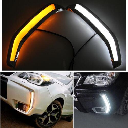 For Subaru Forester XT 13-18 Fog light Daytime Running Light DRL LED Day Light
