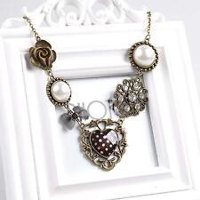2016 Fashion Women Jewelry Flower Pearl Retro Pendant Sweater Chain Necklace