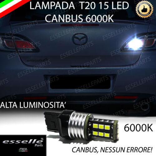LAMPADA RETROMARCIA 15 LED T20 W21W CANBUS MAZDA 6 GH 6000K NO ERROR