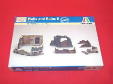 Italeri 1/72nd Scale WWII WALLS And RUINS Plastic Wargame Diorama Model Kit 6090