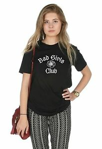 d3964ea45b904 Bad Girls Club T-shirt Top Funny Tumblr Cute Slogan Grunge Girl Gang