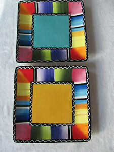 Certified-International-Nancy-Green-Serape-Set-of-2-Square-Dinner-Plates-10-3-4-034
