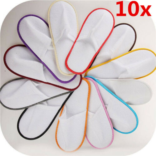 10 pairs SPA HOTEL GUEST SLIPPERS OPEN TOE TOWELLING DISPOSABLE TERRY STYLE Hot!