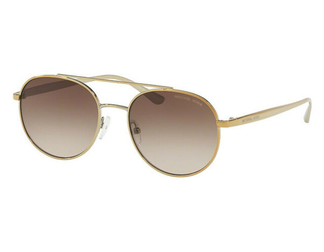 28380d576b NEW Michael Kors Lon MK1021 116813 Gold   Brown Gradient Sunglasses