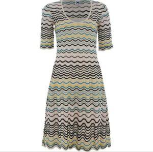 size UK12 MISSONI  Women/'s Pink Knit Skater Dress