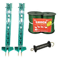 Electric Fence / Fencing:green 4ft Post,20mm Tape Xvalue Kit