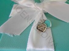 """TIFFANY & CO """"RETURN TO TIFFANY"""" MINI HEART NECKLACE 18""""! BRAND NEW! STERLING!"""