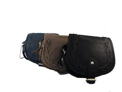 Damen Kunstleder klein Schulter/Cross Over Körper Tasche Handtasche NEU