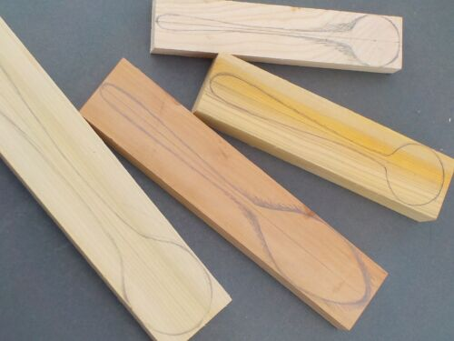 Holly Whittling Walnut Spoon Carving Wood Blanks Selection Box Spalted Beech