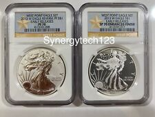 2013 W REVERSE PROOF SILVER EAGLE FROM WEST POINT SET ONE COIN IN CAP