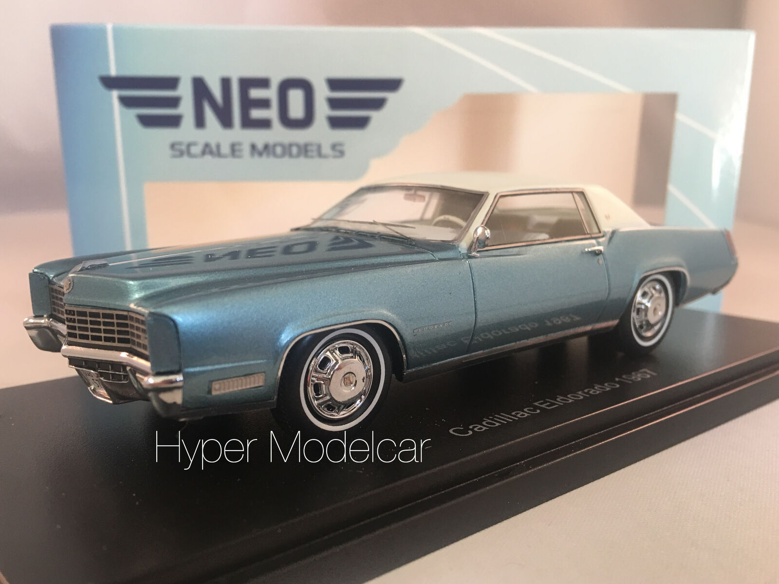 NEO 1 43 CADILLAC ELDORADO COUPÈ 1967 LIGHT azul ART.49562