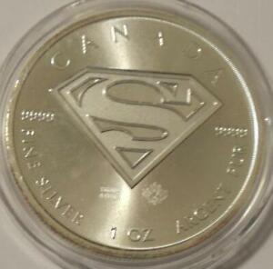 2016 CANADA **SUPERMAN 'S' SHIELD** 1 oz. .9999 SILVER $5 COIN *BU*