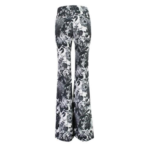 Pantaloni Nera Floreale Uk8 It40 Bianca Mccartney Stella Zampa A gXwWaUqI5C